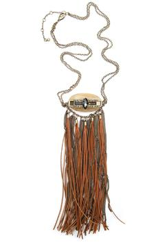 Bijoux du Monde Leather-Quartz Fringe Necklace - Product List Image