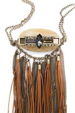 Bijoux du Monde Leather-Quartz Fringe Necklace - Alternate List Image