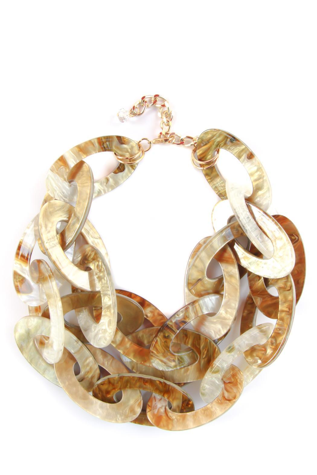 Bijoux du Monde Multi-Link Statement Necklace - Main Image