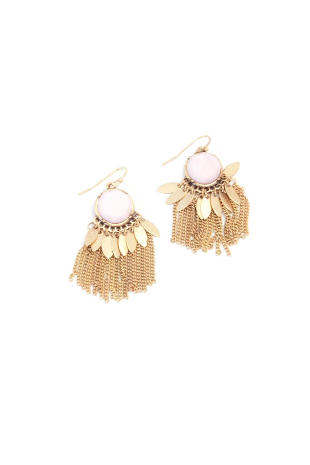 Bijoux du Monde Pink-Opal Tassel Earrings - Main Image