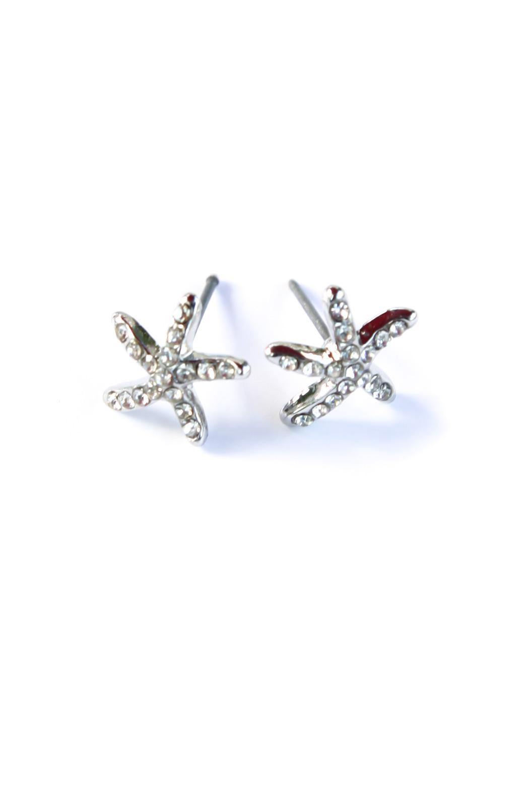 Bijoux du Monde Small Starfish Earrings - Front Cropped Image
