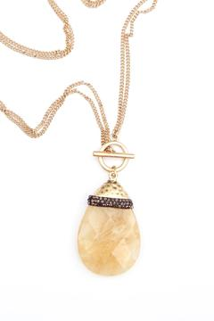 Bijoux du Monde Teardrop Quartz Necklace - Alternate List Image