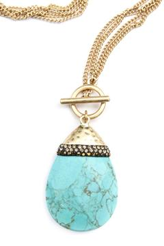 Bijoux du Monde Teardrop Turquoise Necklace - Alternate List Image