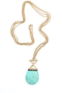 Bijoux du Monde Teardrop Turquoise Necklace - Product List Image