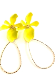 Bijoux du Monde Yellow Flower Earrings - Product Mini Image