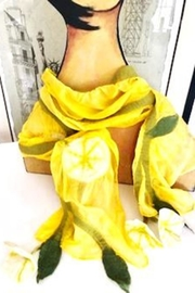 Bijoux du Monde Yellow Silk Scarf - Product Mini Image