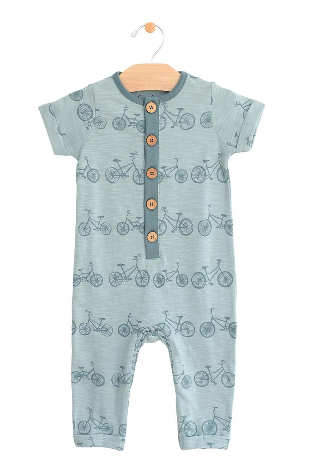 City Mouse Bike Long Bottom Romper - Front Cropped Image