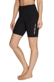 Betsey Johnson Bike Shorts w Contrast Color Side Slits - Front cropped