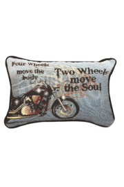 Manual Woodworkers and Weavers Biker Pillow - Product Mini Image