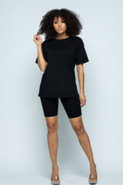 Boswell Fashion Biker Short Set - Front cropped