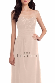 Bill Levkoff Strapless Chiffon Bridesmaid - Product Mini Image