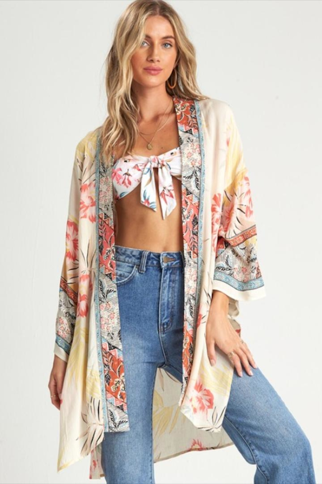 Billabong Beautiful Printed Kimono - Front Full Image