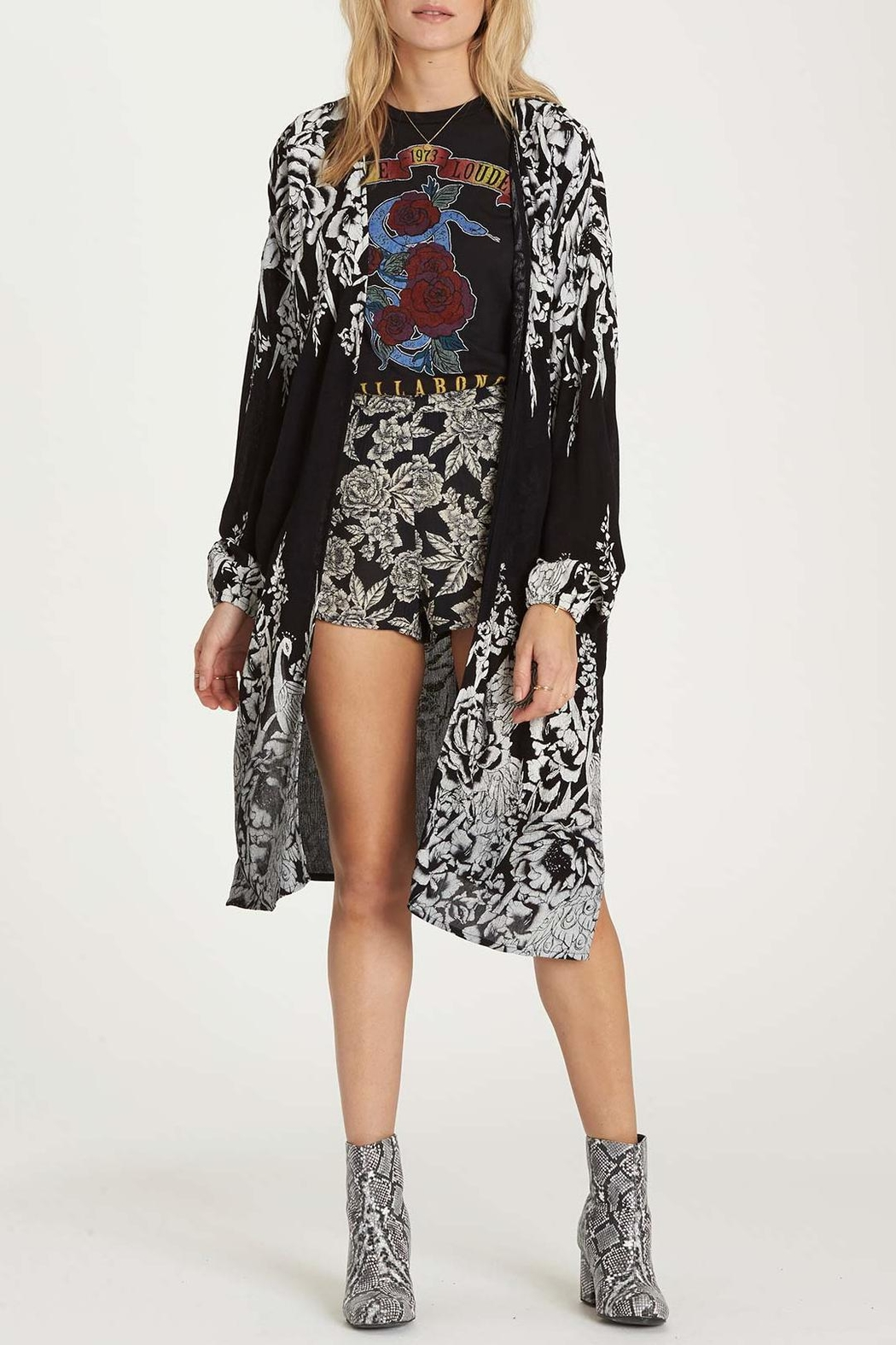 Billabong Best Birds Kimono - Front Cropped Image