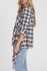 Billabong Blue Plaid Kimono - Front full body