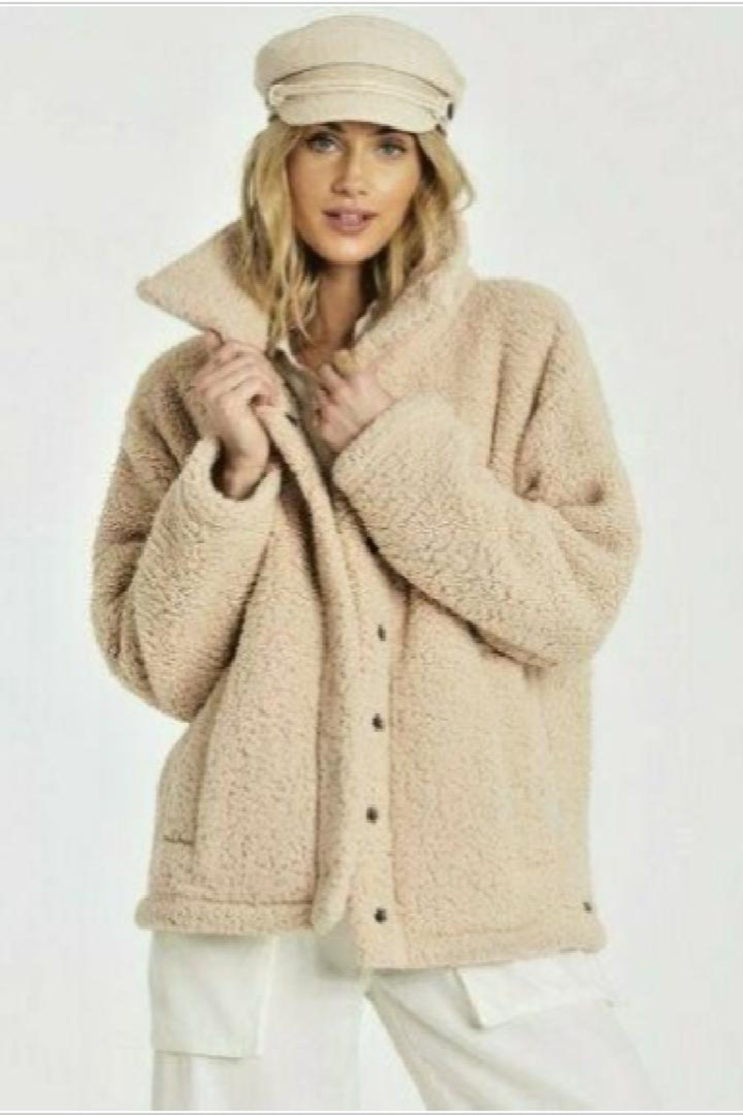 Billabong Cozy Days Sherpa Jacket - Front Cropped Image