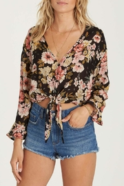 Billabong Floral Tie-Crop Shirt - Product Mini Image