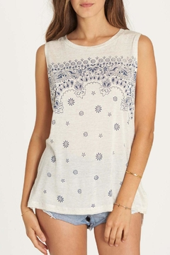 Shoptiques Product: Indigo Bandana Tank Top