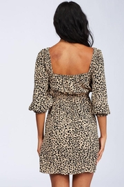 Billabong Leopard Puff-Sleeve Dress - Side cropped