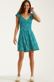 Billabong Seagreen Ruffled Mini-Dress - Product Mini Image