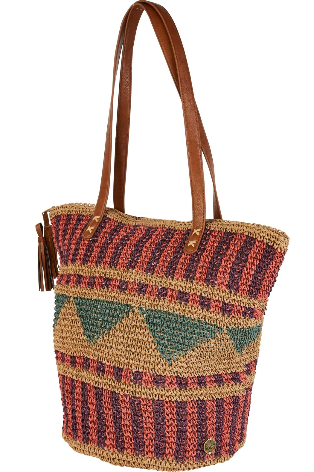 Billabong Straw Woven Bag - Front Full Image