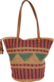Billabong Straw Woven Bag - Front cropped