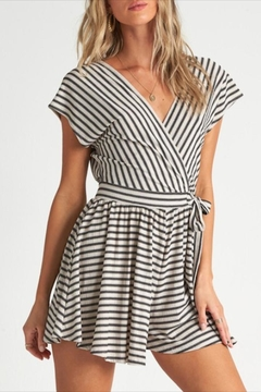 Shoptiques Product: Striped Crossover Romper