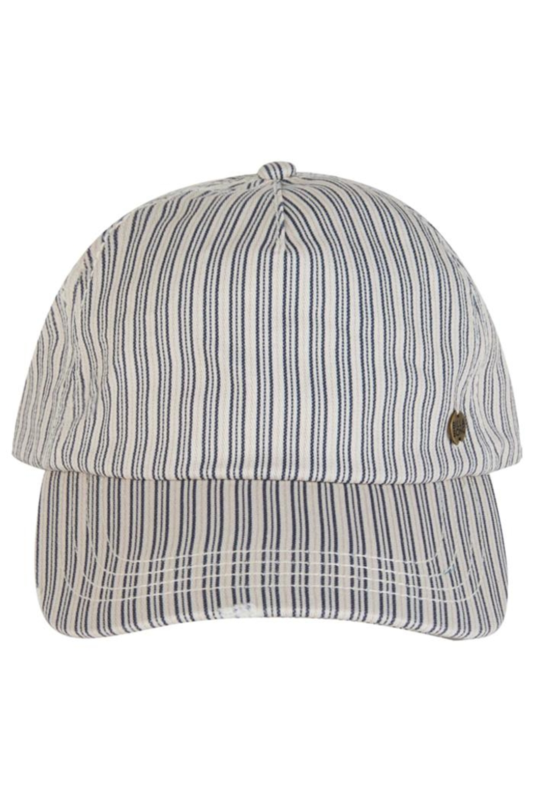 Billabong Striped Distressed Cap - Side Cropped Image