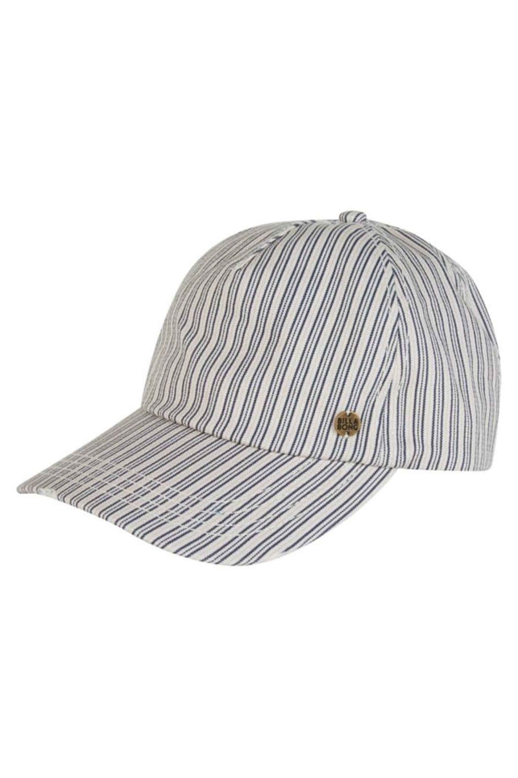 Billabong Striped Distressed Cap - Front Cropped Image