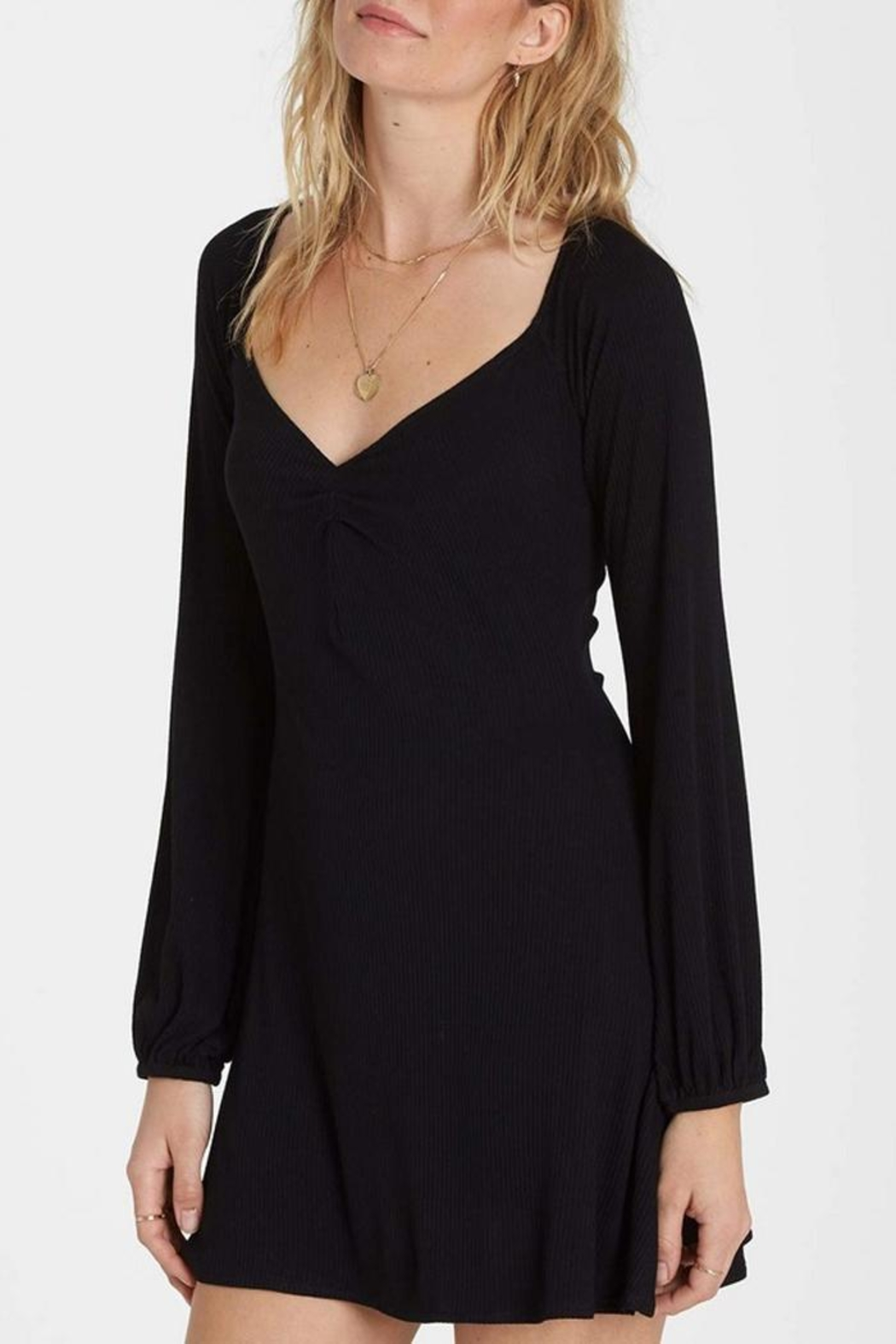 Billabong Sweetheart Ribbed Dress - Side Cropped Image