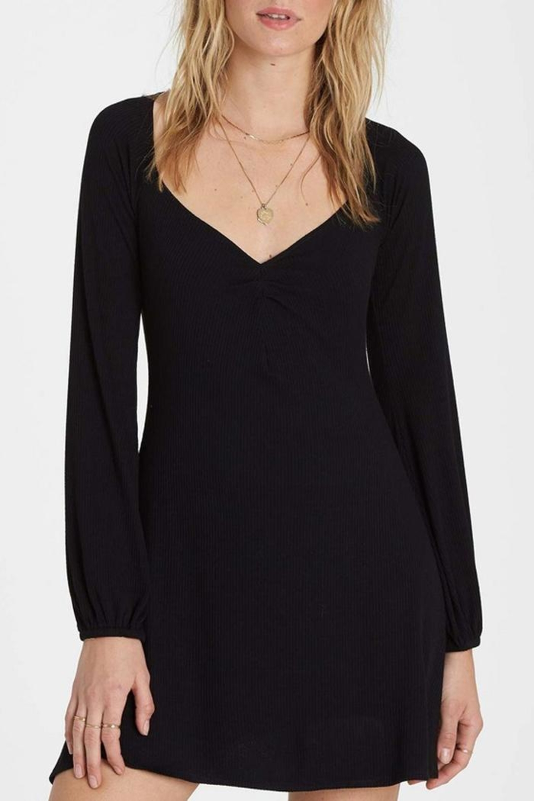 Billabong Sweetheart Ribbed Dress - Front Cropped Image