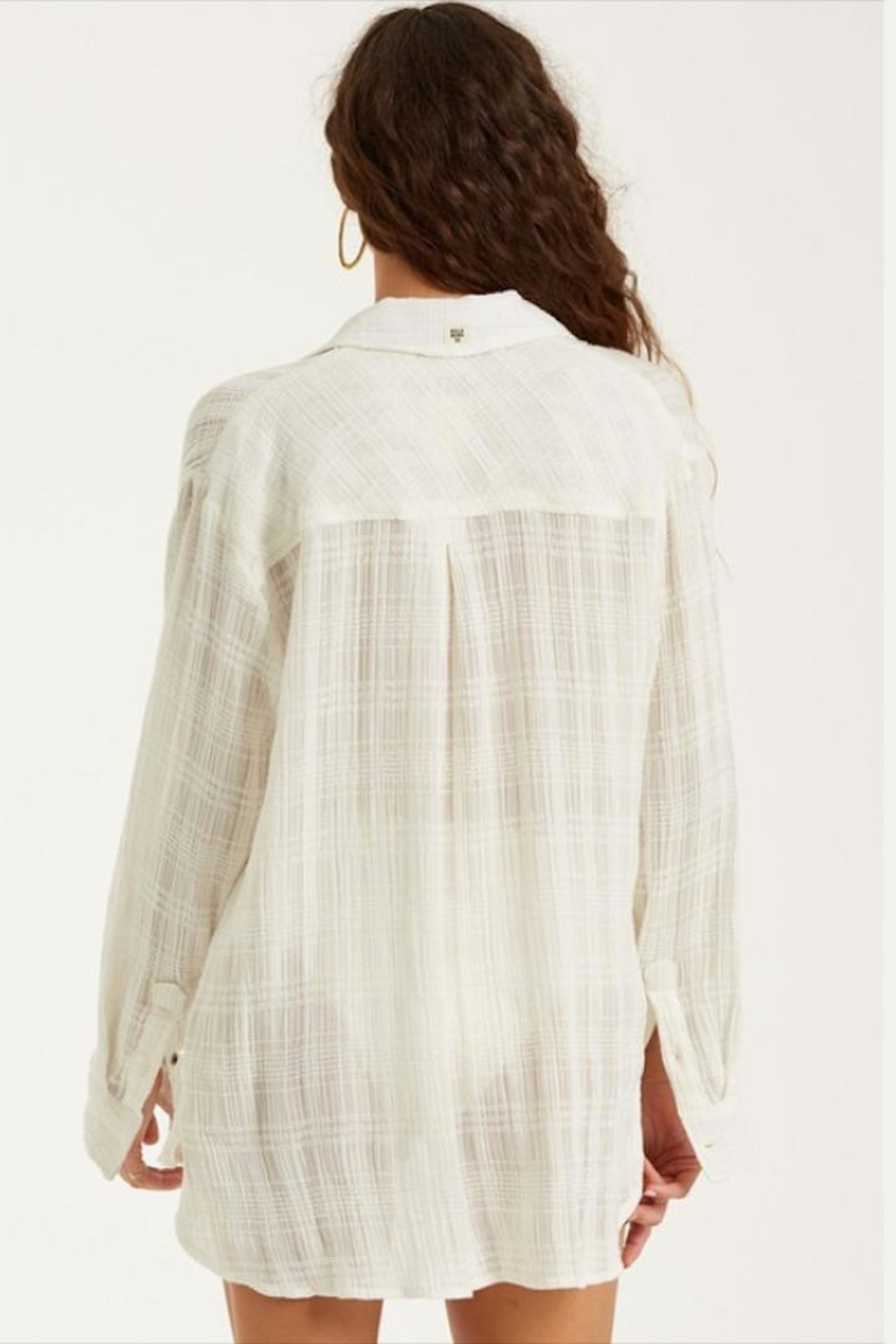 Billabong Woven Sheer Button-Up - Side Cropped Image