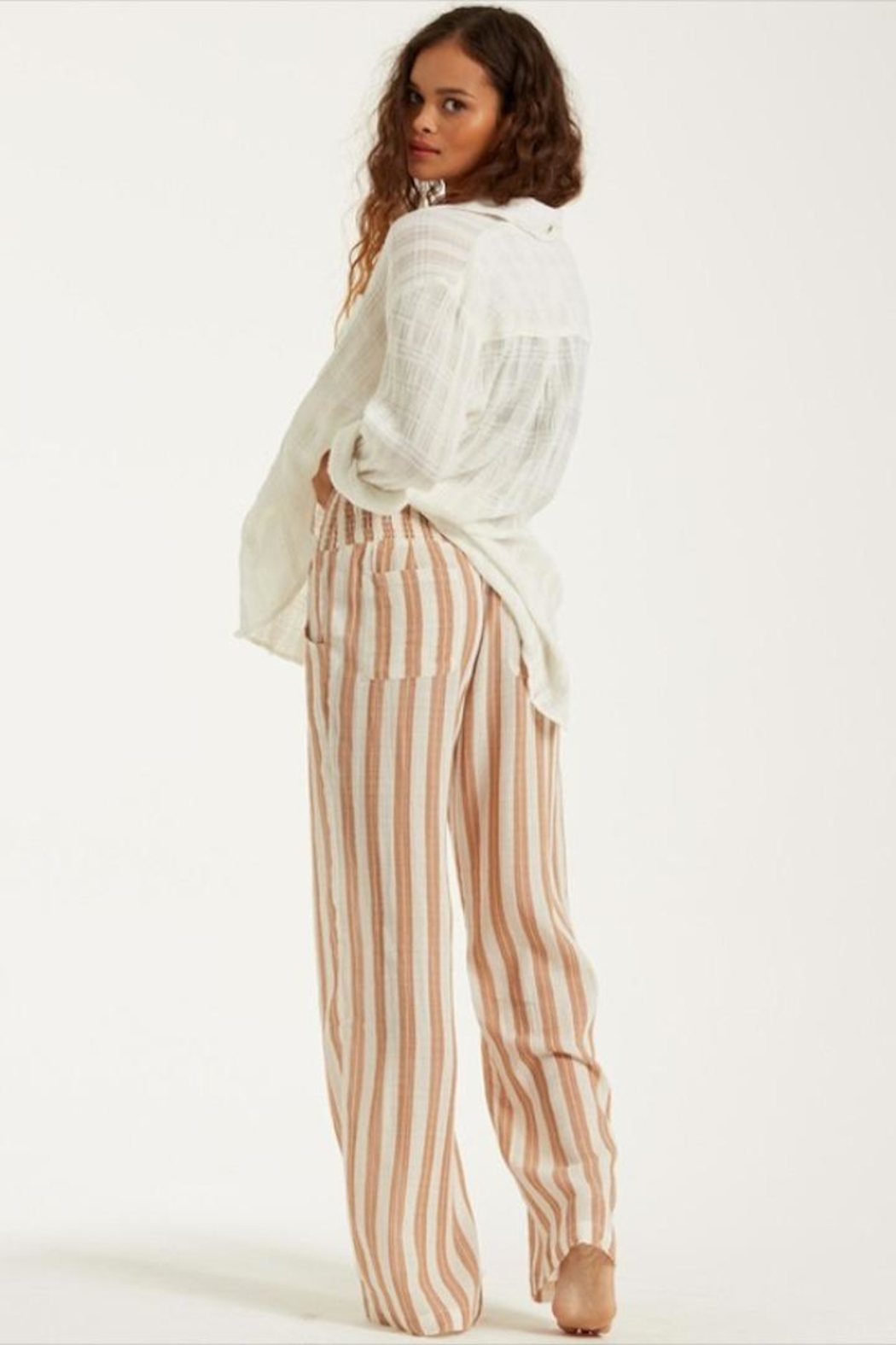 Billabong Woven Striped Pants - Side Cropped Image