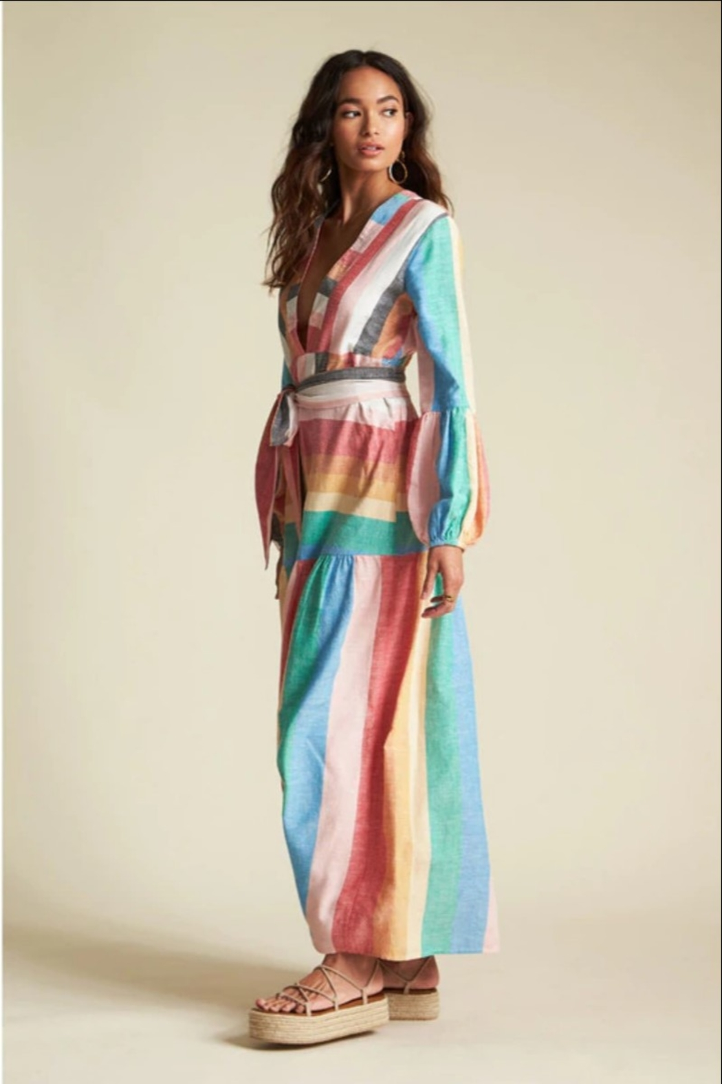 Billabong x Sincerely Jules Mix It Up Maxi Dress - Side Cropped Image