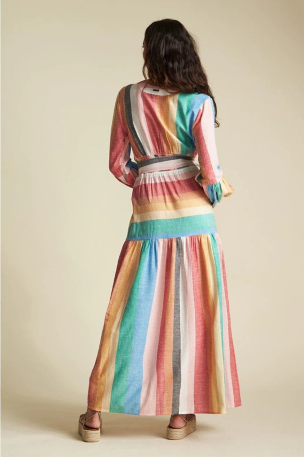 Billabong x Sincerely Jules Mix It Up Maxi Dress - Back Cropped Image