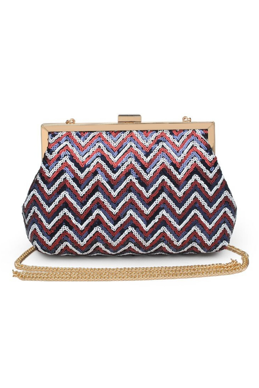 Urban Expressions Billie Sequin Clutch - Front Cropped Image