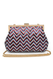 Urban Expressions Billie Sequin Clutch - Front cropped