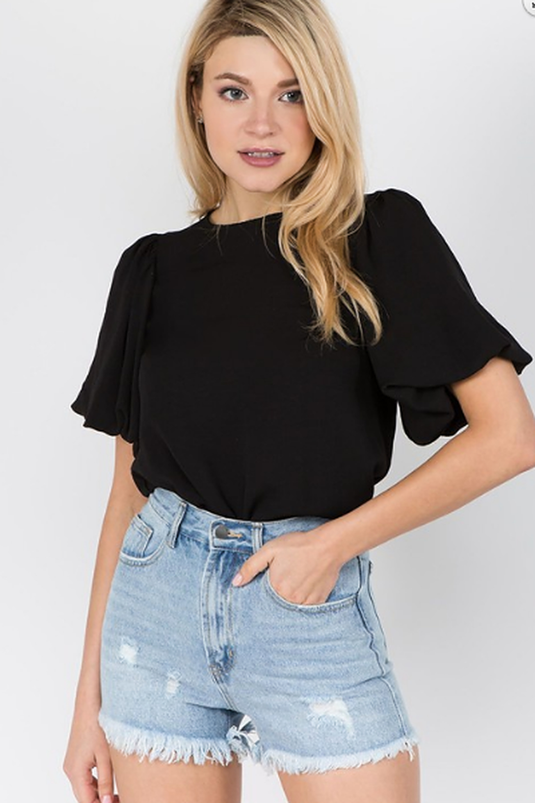 On Twelfth Billow sleeve top - Front Cropped Image