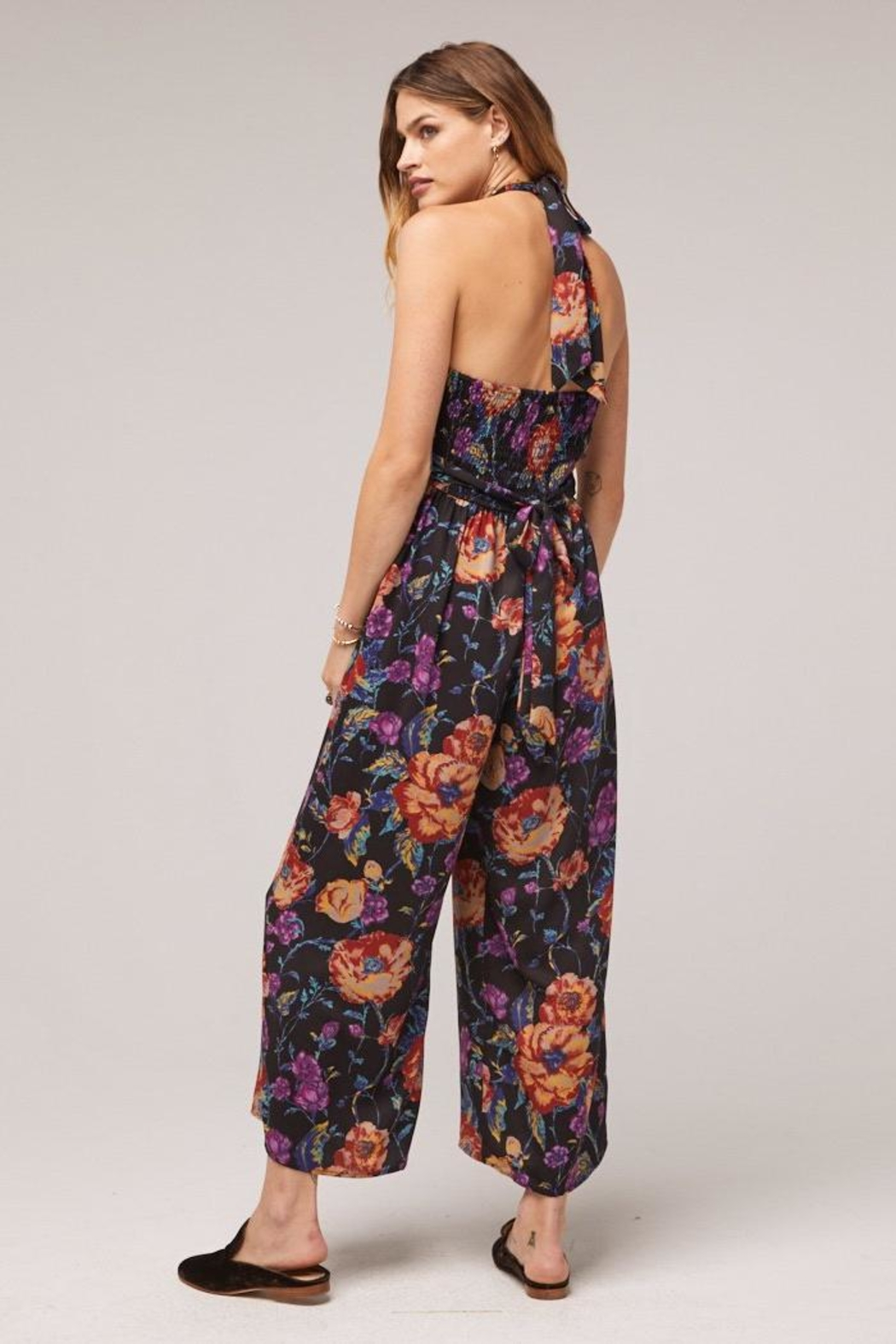 Band Of Gypsies Billy Floral Jumpsuit - Side Cropped Image
