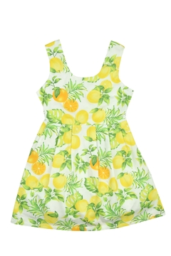 Bimbalina Lemon Open Back Dress - Product List Image