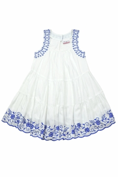 Bimbalina White & Blue Embroidered - Product List Image