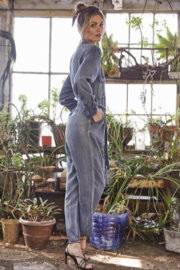 Velvet Heart/Jak & Rae Bindi Waist Tie Jumpsuit - Front full body