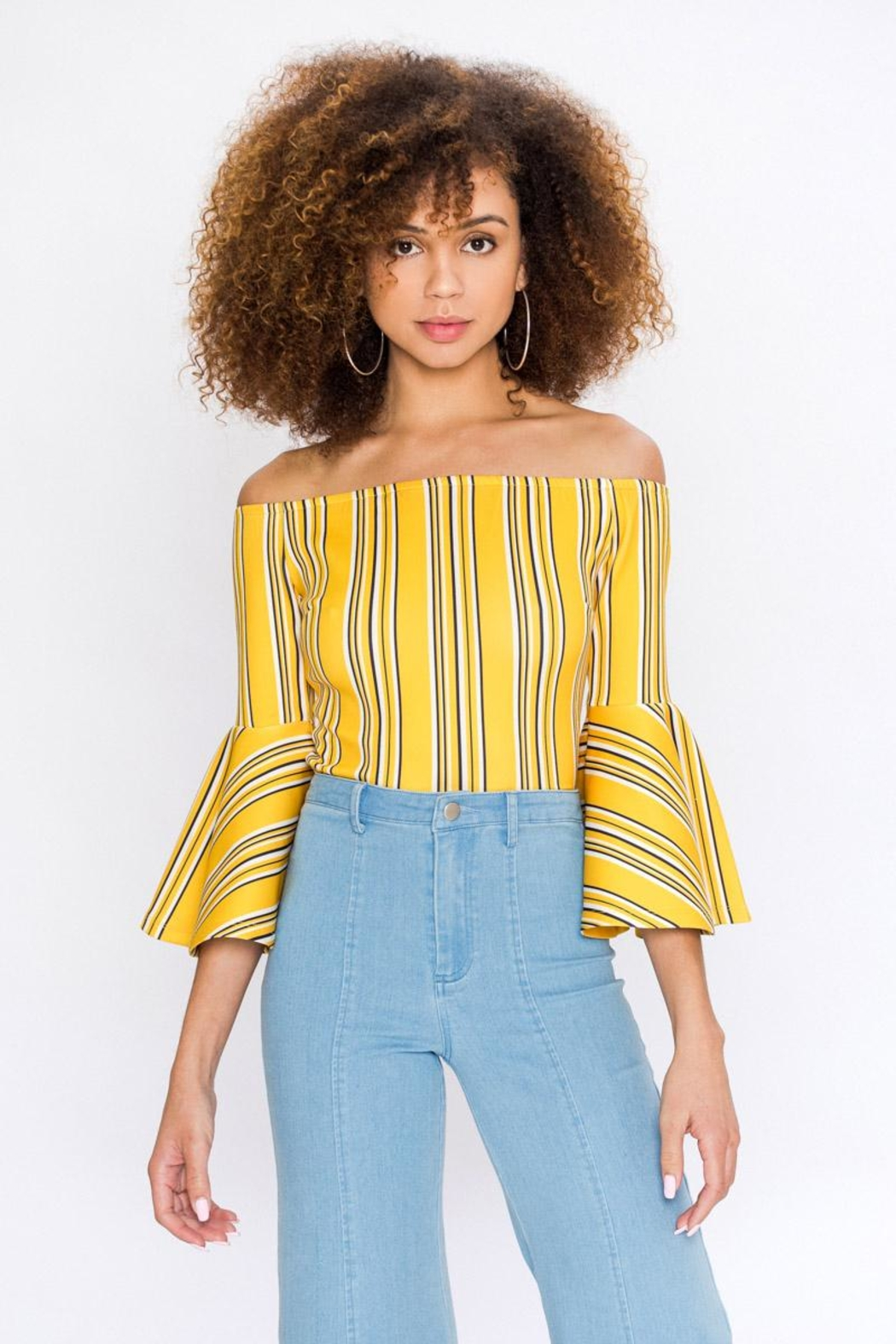 Bio Bell Sleeve Top - Side Cropped Image