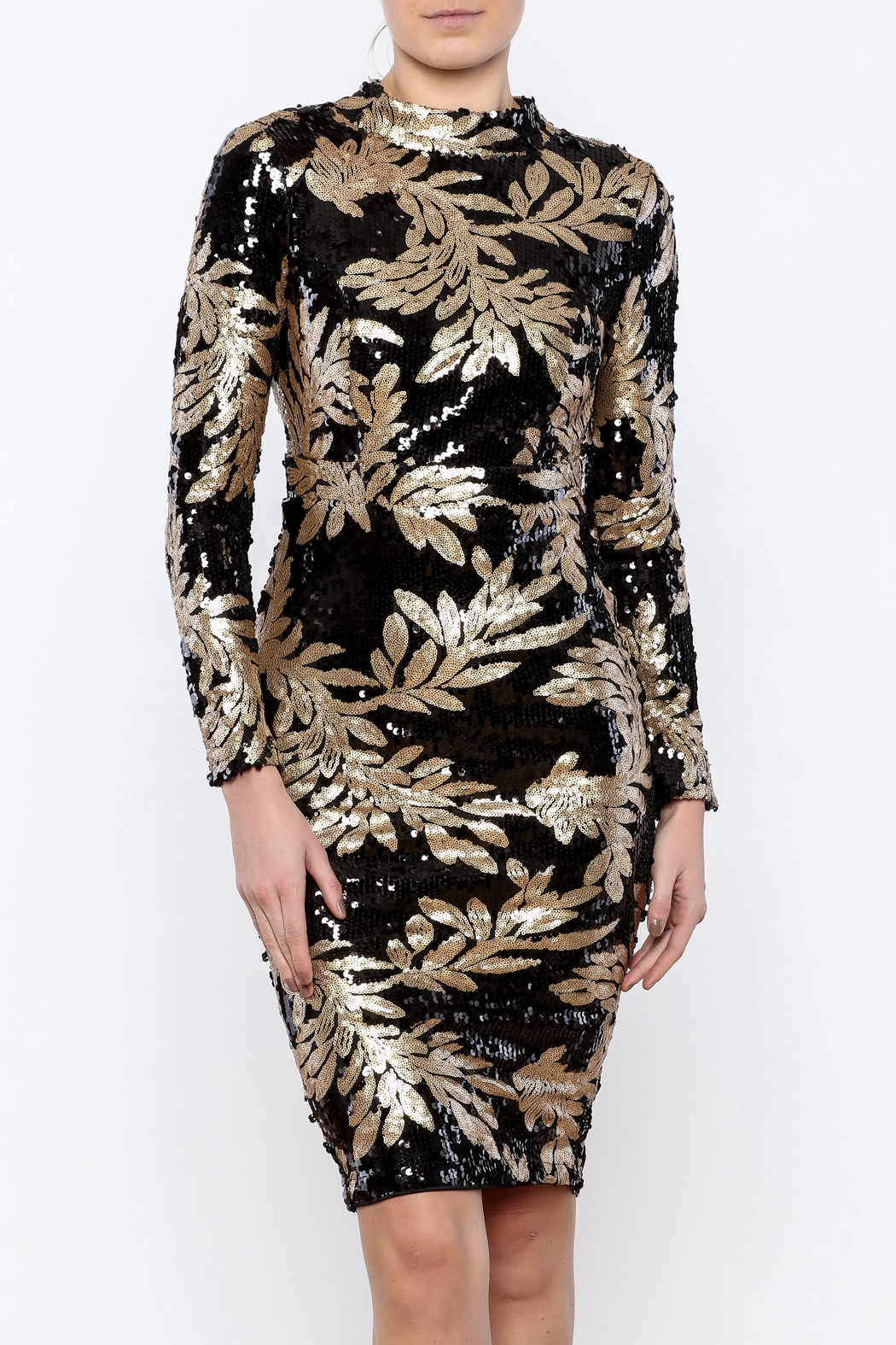 d7d3ebf69330 Bio Black Gold Sequin Dress from Brooklyn by BB Collective — Shoptiques