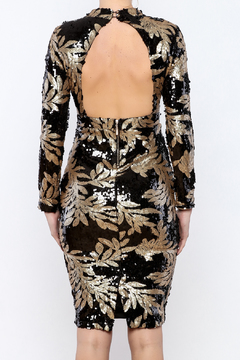 Bio Black Gold Sequin Dress - Alternate List Image
