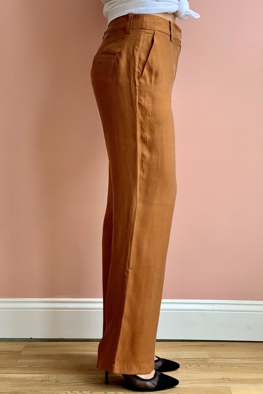 Bio Coral Trousers - Side Cropped Image