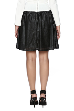 Bio Faux Leather Flair Skirt - Alternate List Image