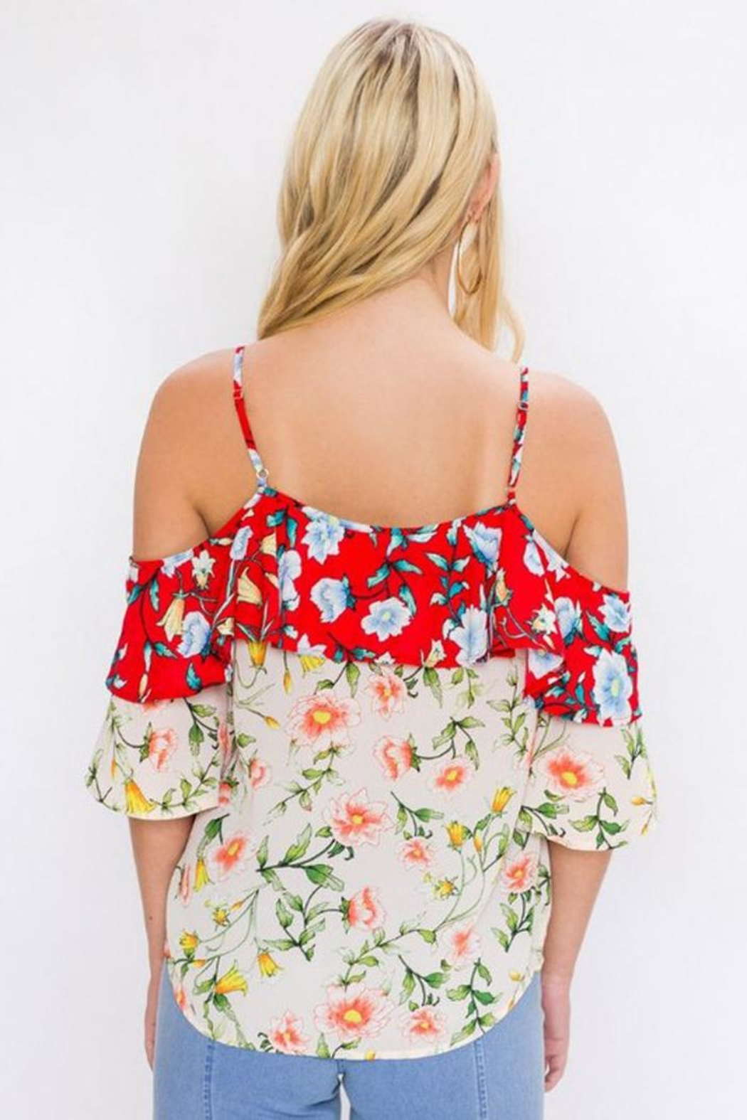 Bio Floral Mix Blouse - Front Full Image