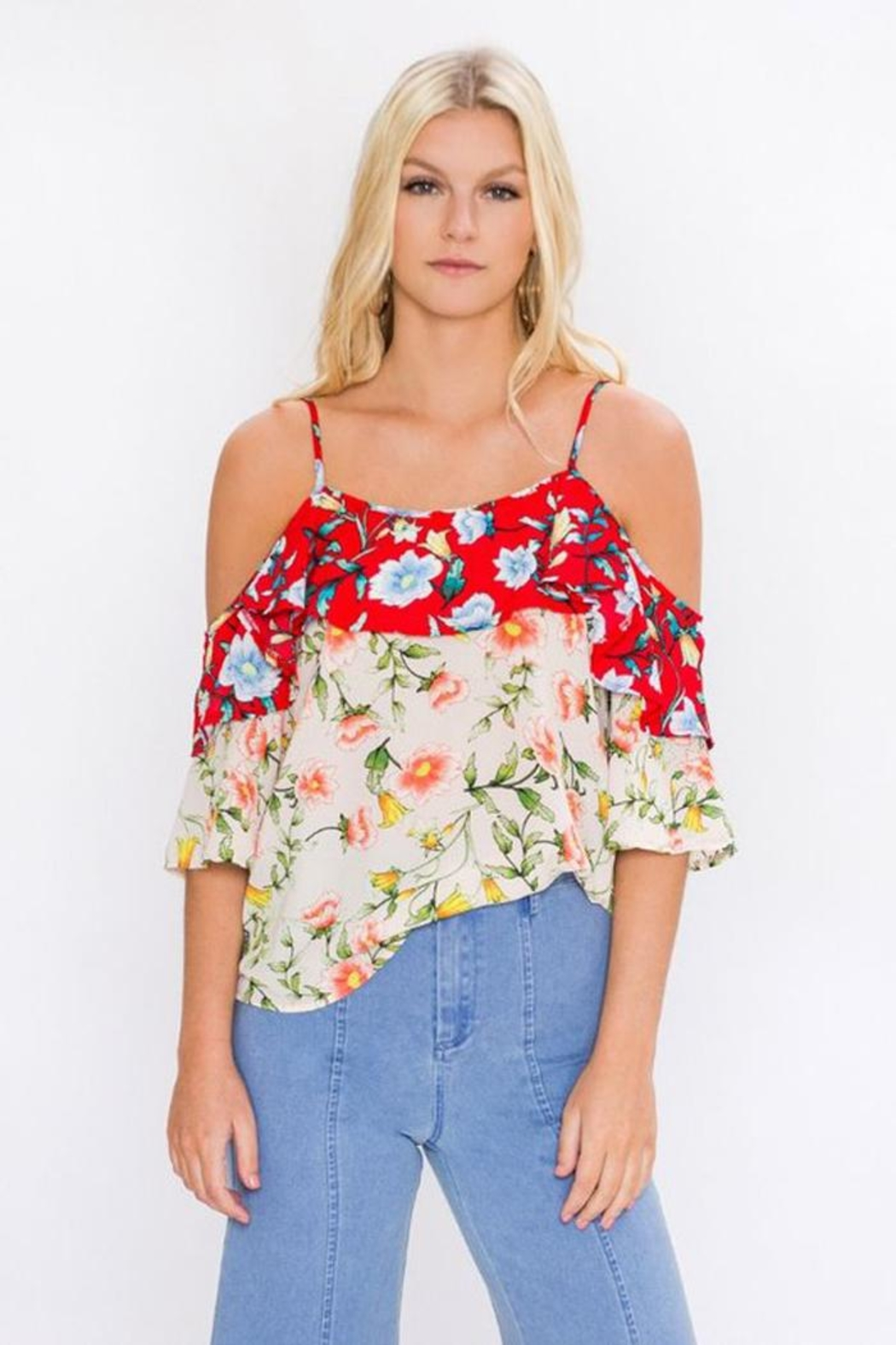Bio Floral Mix Blouse - Main Image