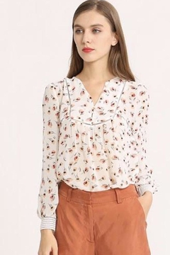 Shoptiques Product: Floral Sheer Top