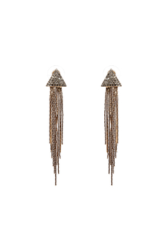 Shoptiques Product: Gold Rhinestone Dangling Earrings